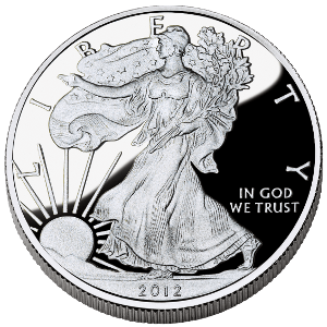 2012 american silver eagle proof coin