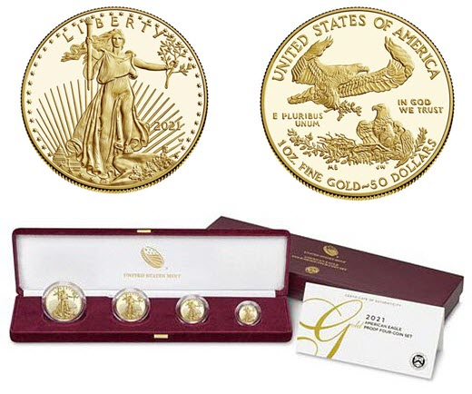 2021's final release of the 35-year American gold eagle coin