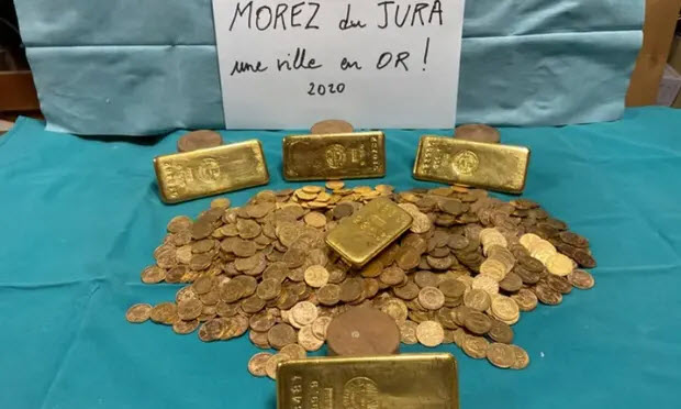 Valuable gold stash found in an abandoned building