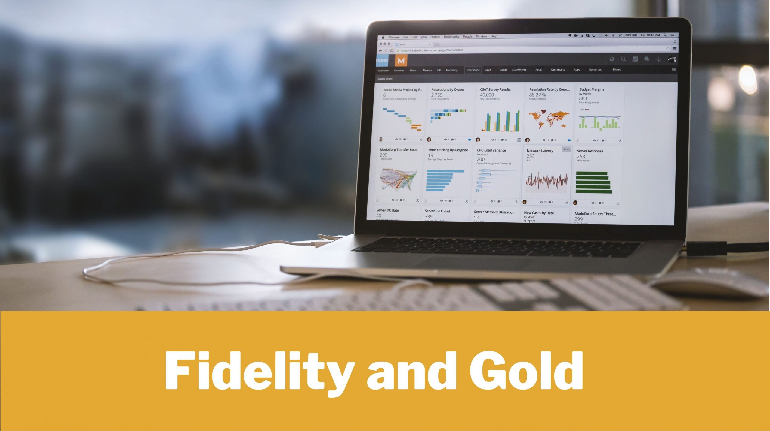 Fidelity and Gold Hero Image