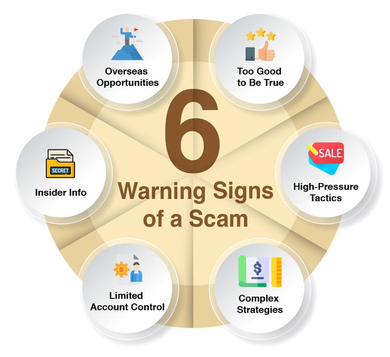warning signs of scam