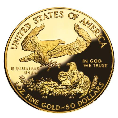 American Gold Eagle (proof) - back