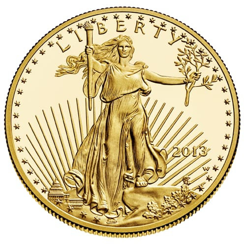 American Gold Eagle (bullion) - front