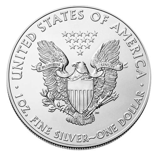 American Silver Eagle (bullion) - back