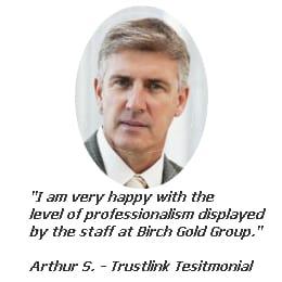 Birch Gold Trustlink Testimonial