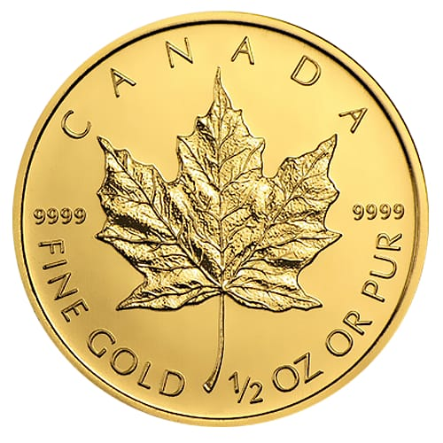 Canadian Gold Maple Leaf - back