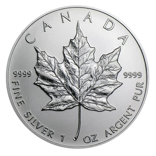 Canadian Silver Maple Leaf - back