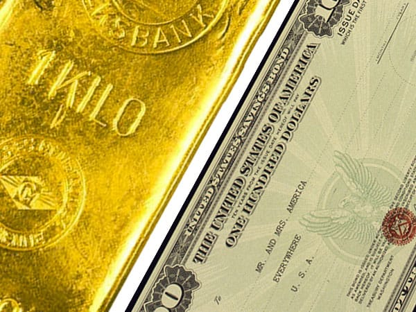 Gold and bonds moving in tandem