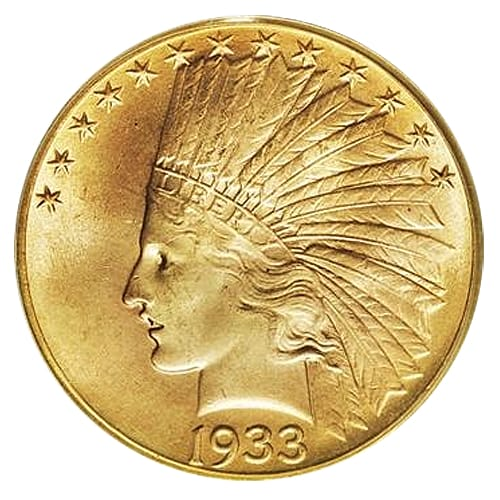 Gold Indian Head Eagle ($10) - front