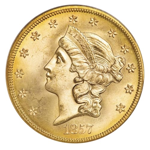 Liberty Head Double Eagle ($20) - front