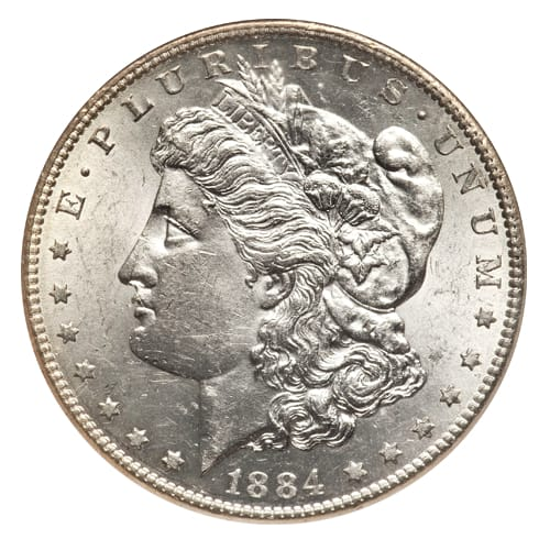 Morgan Silver Dollar - front