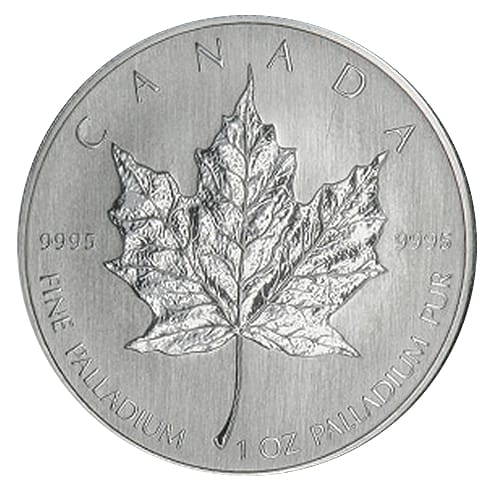 Canadian Palladium Maple Leaf - back