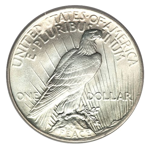 Peace Silver Dollar - back