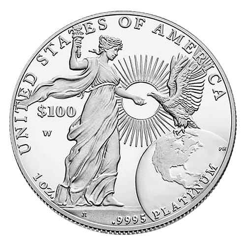 American Platinum Eagle - back