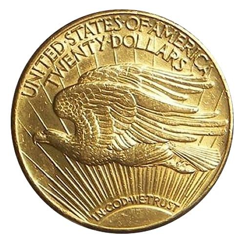 Saint-Gaudens double eagle ($20) - back