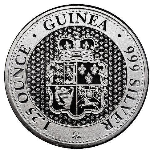 Silver Rose Crown Guinea - back