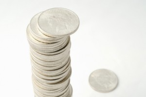 Picture of stack of silver coins