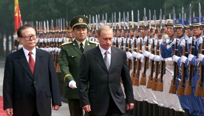 Vladimir Putin and Jiang Zemin