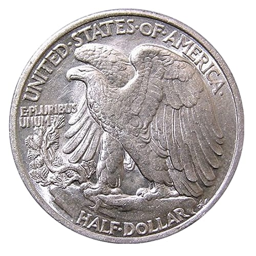 Walking Liberty Half Dollar - back