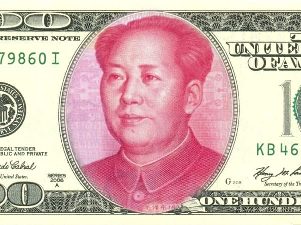 China crashes dollar