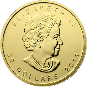 canadian gold maple leaf coin obverse Gold