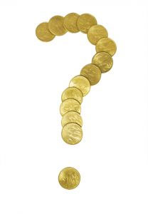 Gold coins question mark
