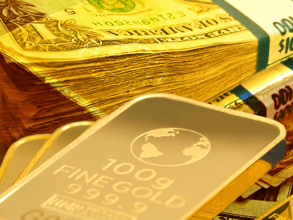 dollar gives gold boost