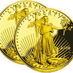 two gold american eagle coins