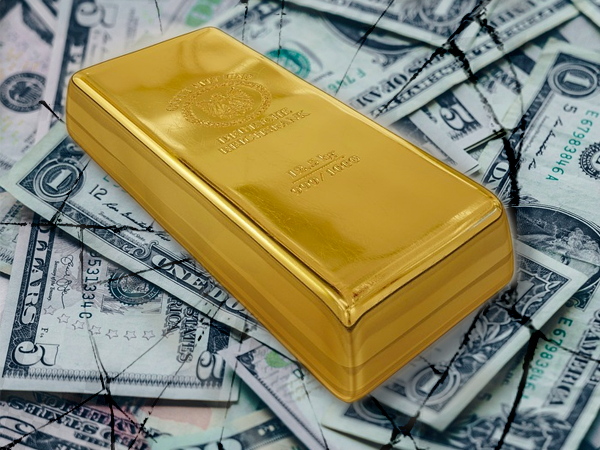gold beats u.s. dollar