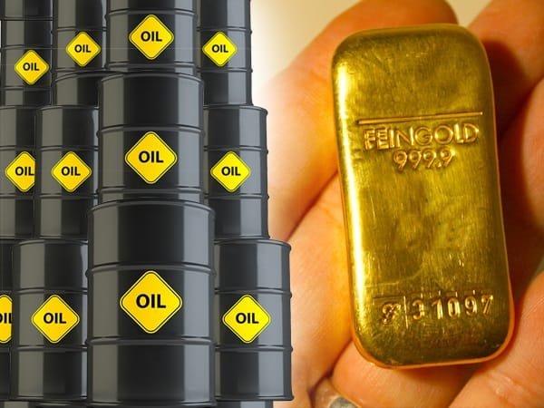 gold diverges from oil