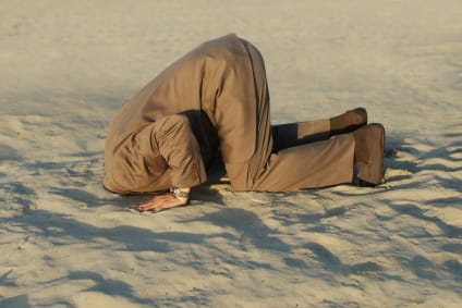 head in sand for stock investing