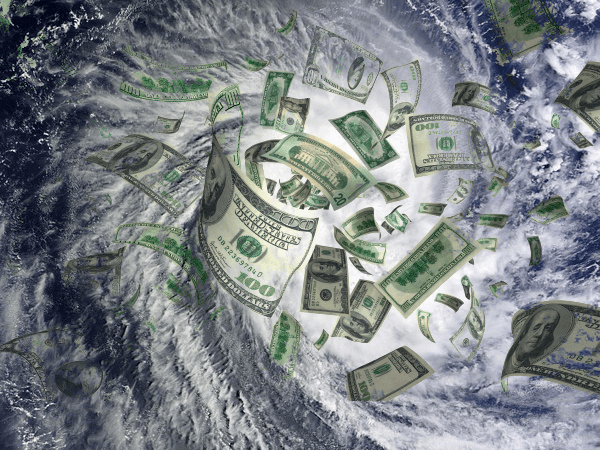 Hurricane damage to trigger financial meltdown