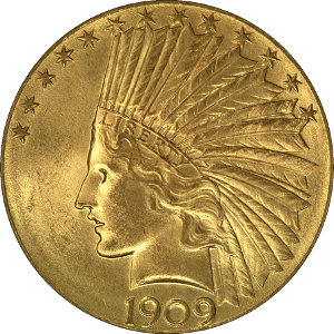 indian head eagle 10 obverse Gold