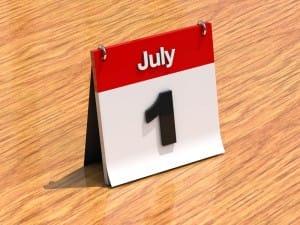 Calendar, July 1st