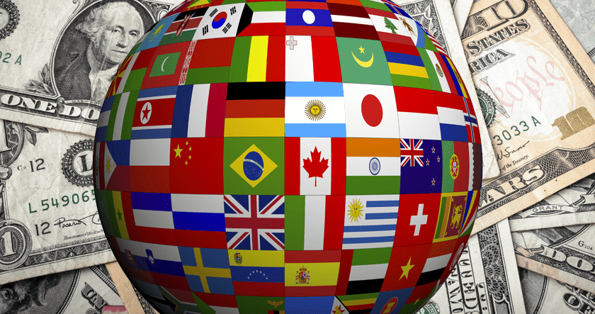 World against the US dollar
