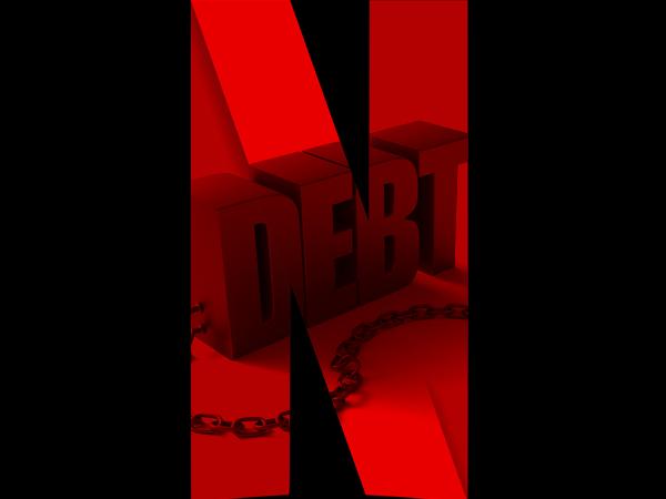 netflix in debt