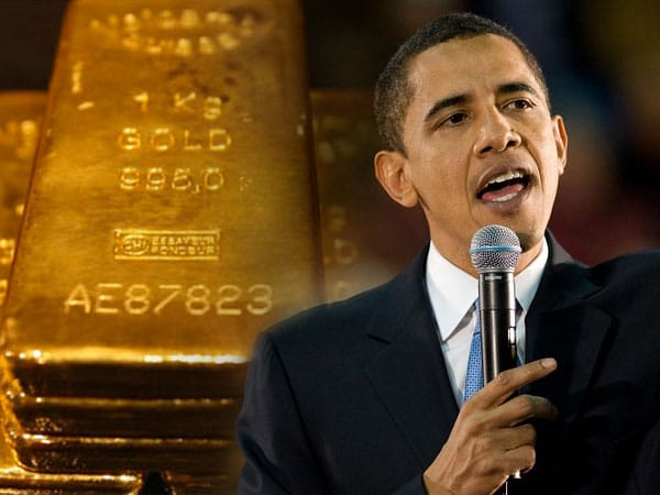 obama's gift to gold