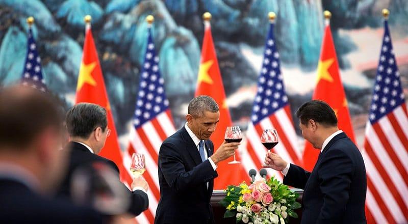 obama toasting china yuan over the dollar