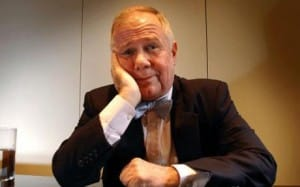 Jim Rogers sitting at the table