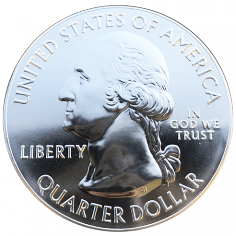 silver america the beautiful obverse side