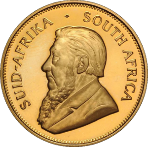 south african krugerrand obverse Gold