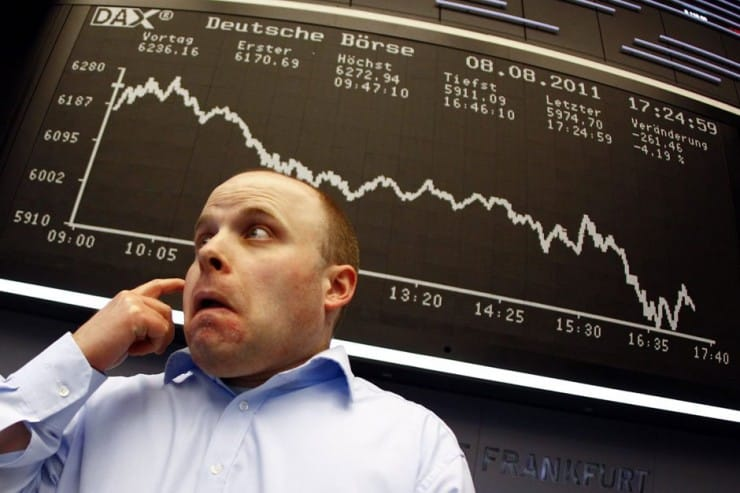 stock market trader reaction shock