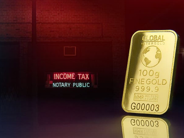 taxes with gold