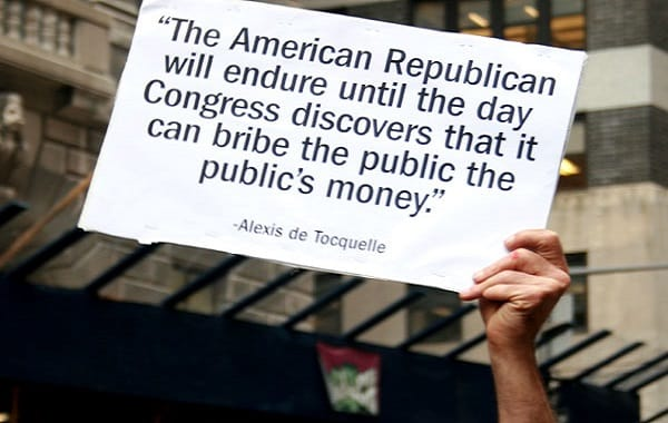 The American Republican will endure until the day Congress discovers that it can bribe the public the publics money