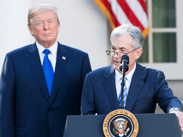 trump and jerome powell