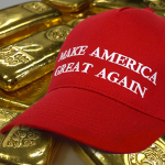 make american great again cap with gold